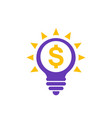 idea is money icon isolated on white vector image