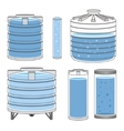 Industrial water tanks set vector image vector image