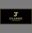jt monogram classic logo design inspiration vector image vector image