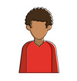 man faceless profile vector image vector image