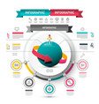 marketing infographic design circle infographics vector image vector image