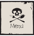 menu with a human skull vector image vector image