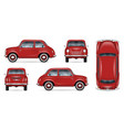 mini red car mock-up vector image vector image