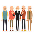 old man older man character in various poses man vector image vector image
