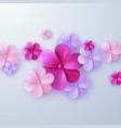 paper cut floral background vector image