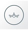 plane icon line symbol premium quality isolated vector image vector image