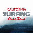poster about surfing dark abstract watercolor vector image