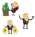Profit Businessman vector image