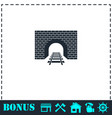 railway tunnel icon flat vector image vector image
