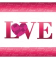 Romantic colorful card design with pink hearts vector image vector image