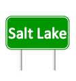 Salt Lake City green road sign vector image vector image