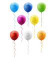 set balloons vector image