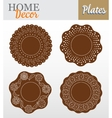 Set of 4 decorative plates for interior design - vector image vector image