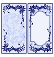 Set of two vintage blue invitations with lilies vector image vector image