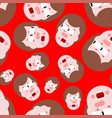 shock seamless pattern panic people background vector image