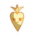 silhouette kawaii cute happy carrot vegetable vector image vector image