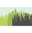Silhouette of big city scenery vector image vector image
