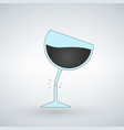 silhouette of broken wine glass icon for web vector image vector image