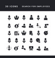 simple icons search for employees vector image