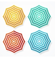 striped sun umbrella set vector image vector image