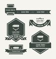 Utility knife Label And Ribbon template vector image vector image