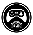 Video games design vector image vector image