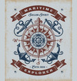 vintage maritime explorer typography vector image vector image