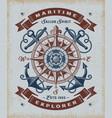 vintage maritime explorer typography vector image