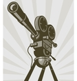 Vintage movie or television film camera vector image vector image