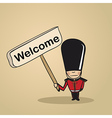 Welcome to UK people vector image vector image