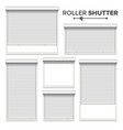white roller shutters window door garage vector image vector image