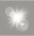 white sun lens flare effect vector image vector image