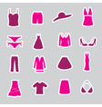 womens clothing stickers set eps10 vector image vector image