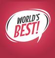 world best cartoon speech bubble vector image vector image