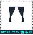Curtain icon flat vector image