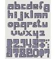 Font 3d Scribble vector image