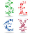 set of currency symbol vector image