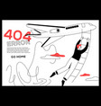 404 error page - flat design style web banner vector image