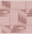 abstract gold wave pattern vector image vector image