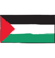 abstract palestine flag or banner vector image vector image