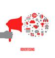 advertising design concept advertising design vector image