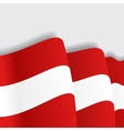 Austrian waving Flag vector image vector image