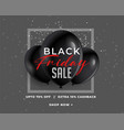awesome black friday sale banner in dark vector image vector image