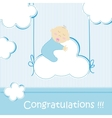 Baby shower - boy vector image vector image