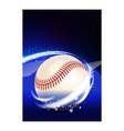 baseball team activity sport notice banner vector image vector image