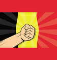 belgium europe country fight protest symbol with vector image vector image
