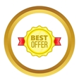 Best offer label icon vector image