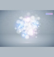 bokeh effect multicolor light background blue vector image vector image