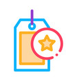 bonus label concept icon outline vector image