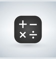 button for calculator app isolated on modern vector image vector image